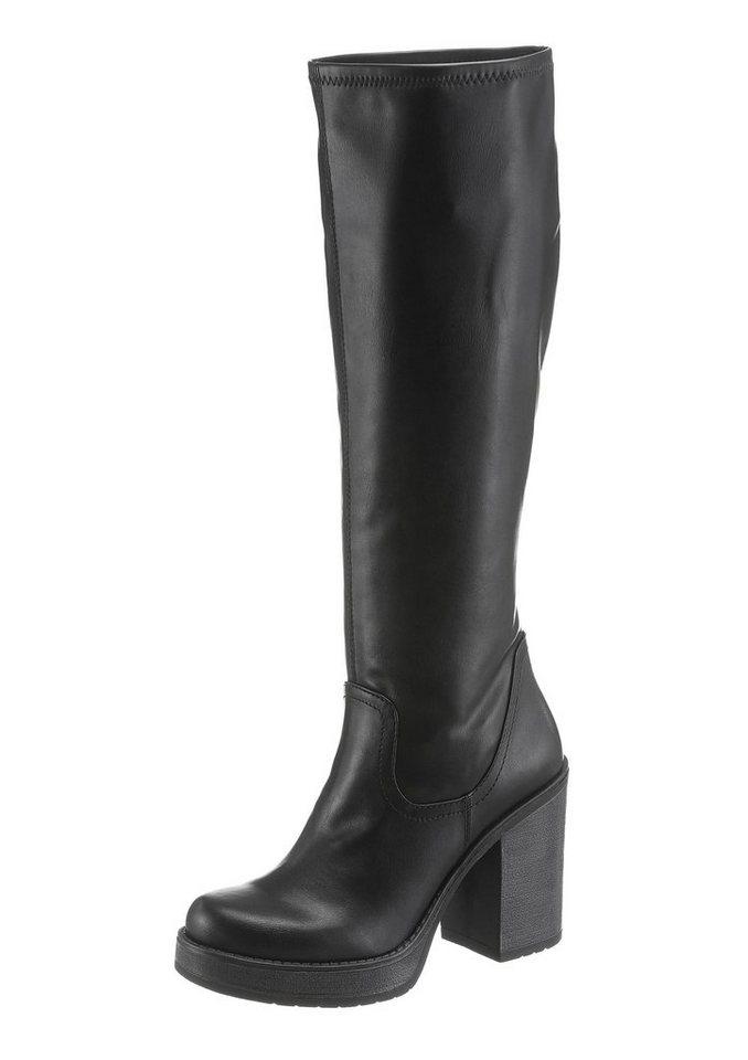 Tamaris Stiefel im Seventies-Style in schwarz
