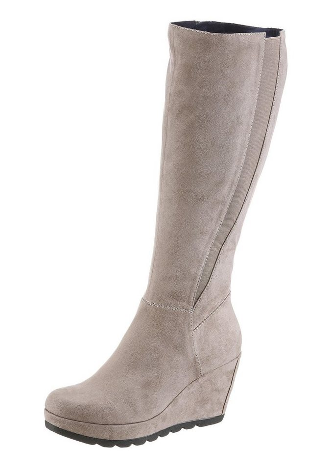 s.Oliver RED LABEL Keilstiefel in taupe