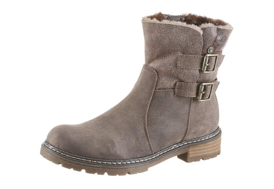 s.Oliver RED LABEL Bikerboots in taupe