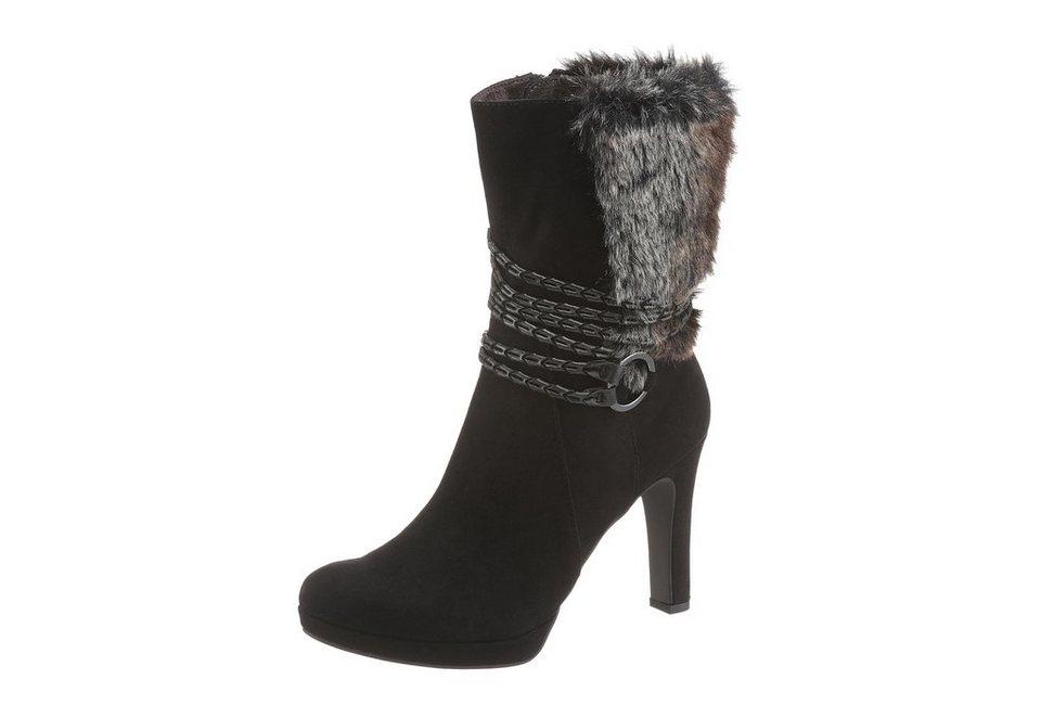 Tamaris Stiefel mit kurzem Schaft in schwarz