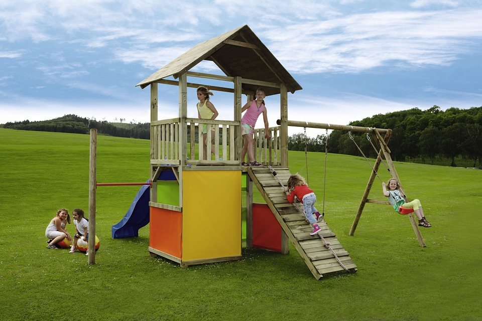 Spielturm »MAX & MORITZ 11 + Rutsche«