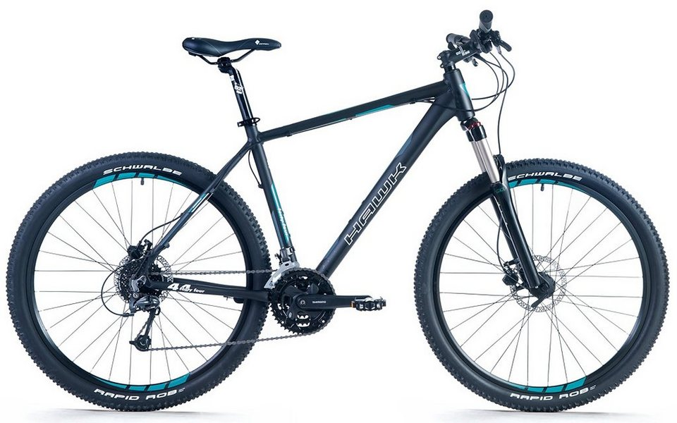 hawk mountainbike 27 5 zoll 27 gang shimano. Black Bedroom Furniture Sets. Home Design Ideas