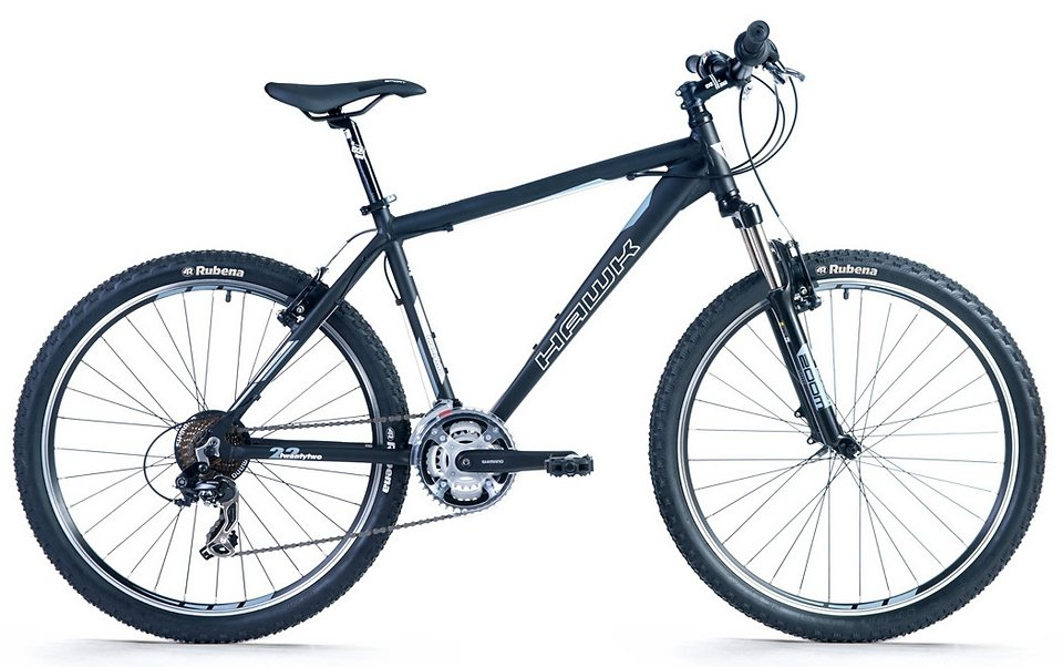 Hawk Mountainbike, 26 Zoll, 21 Gang Shimano Kettenschaltung, »Twentytwo« in schwarz