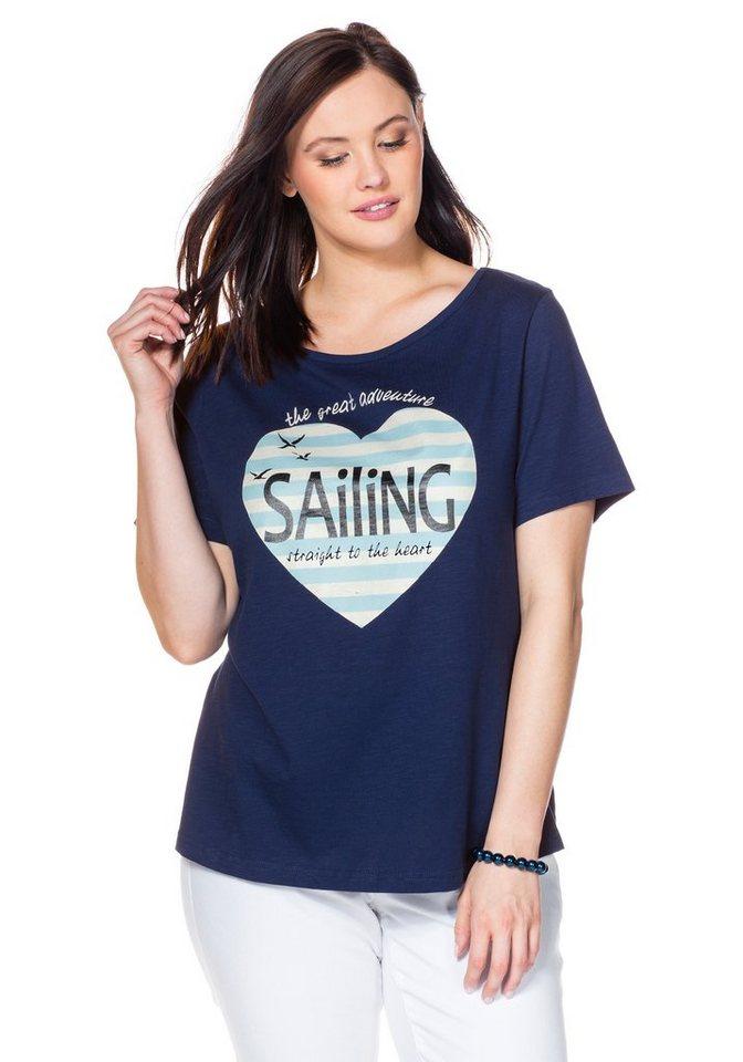 sheego Casual T-Shirt in nachtblau