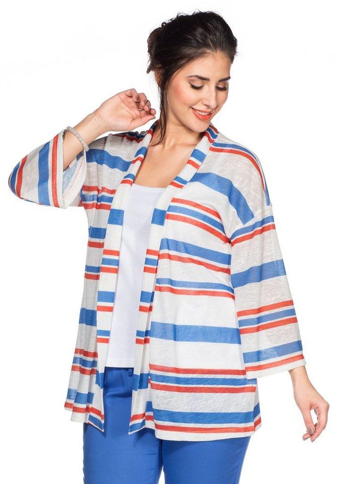 sheego Trend Shirtjacke in weiß