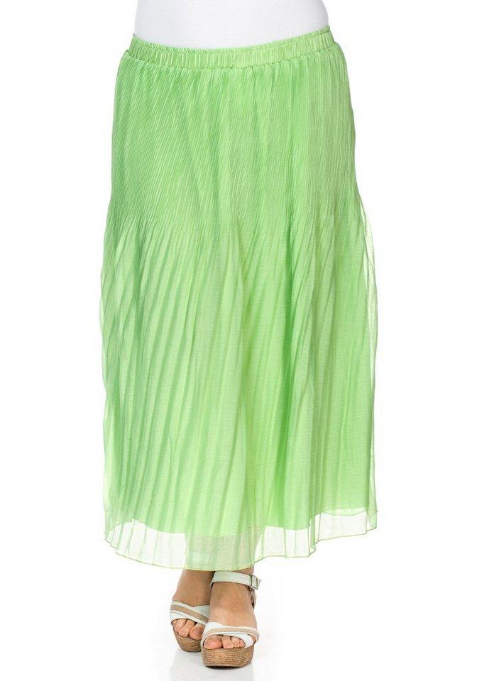 sheego Trend Maxirock in apfelgrün