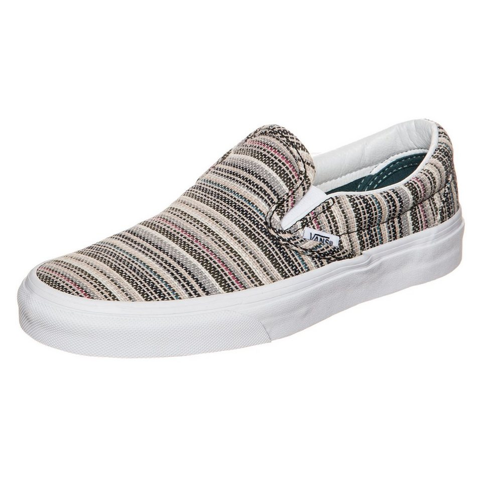 VANS Classic Slip-On Textile Stripes Sneaker in bunt / weiß