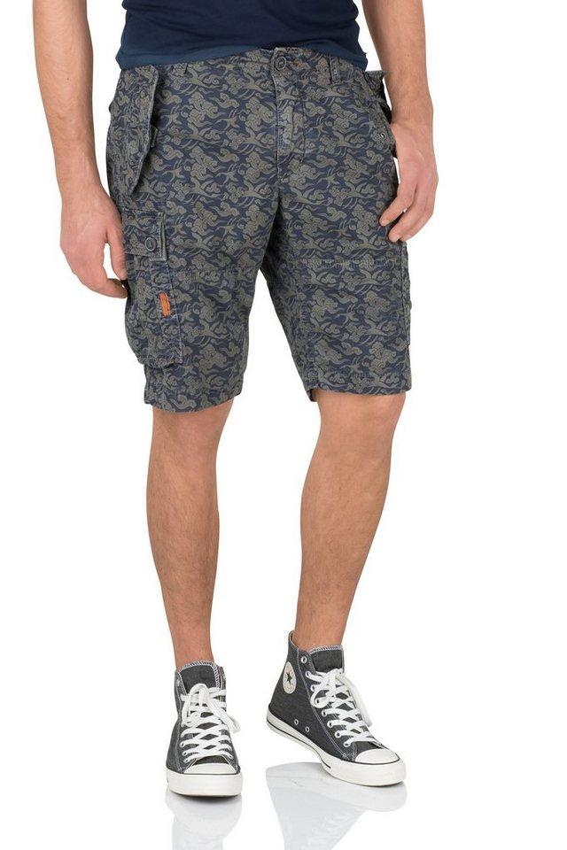 NAGANO Shorts »TAKASHI« in indigo / lt. blue