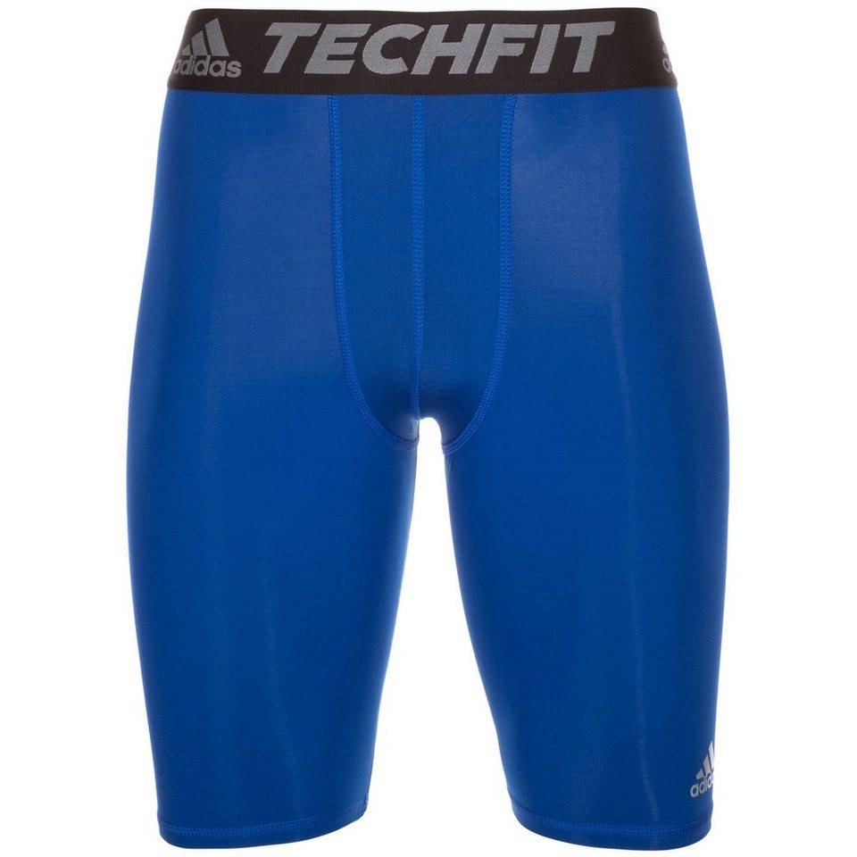 adidas Performance TechFit Base Trainingstight Herren in blau / schwarz