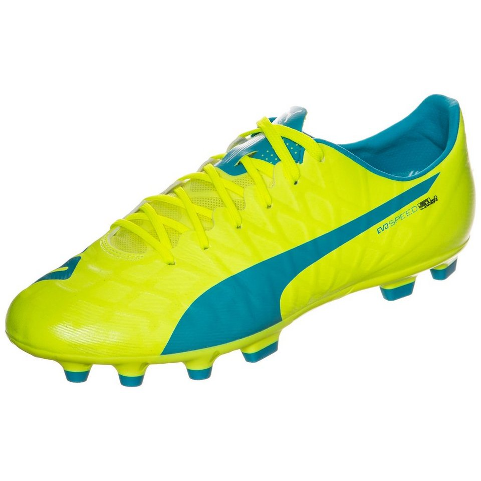 PUMA evoSPEED SL-S AG Fußballschuh Herren in neongelb / blau