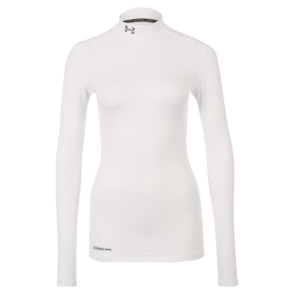 Under Armour® ColdGear Mock Trainingsshirt Damen in weiß