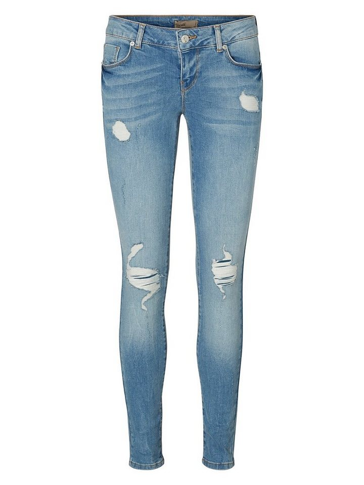 Vero Moda Five LW Skinny Fit Jeans in Medium Blue Denim