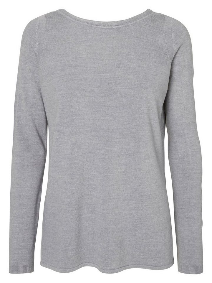 Vero Moda Langärmelige Strickpullover in Light Grey Melange