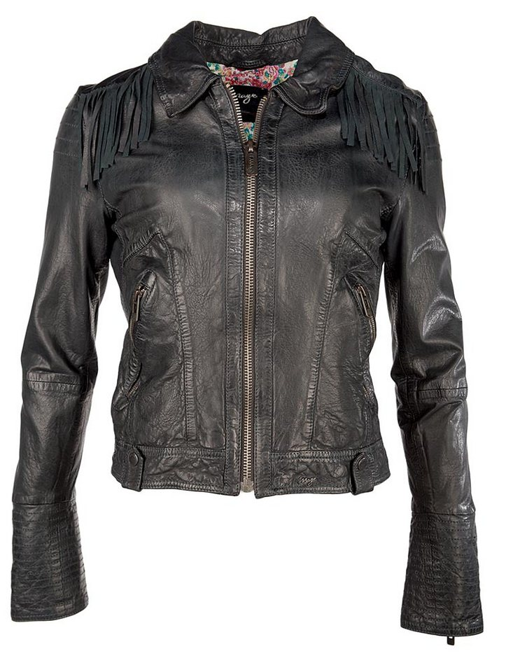 MAZE Lederjacke, Damen Ivette in black