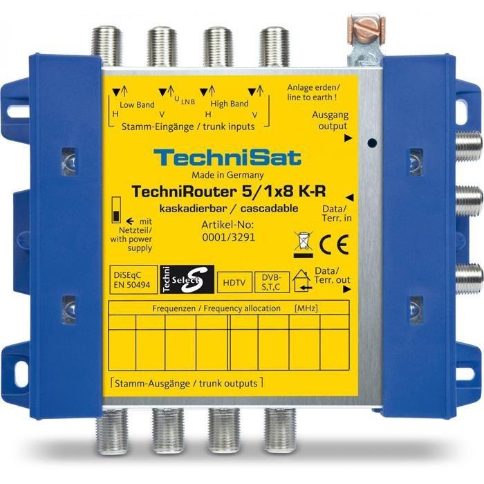 TechniSat Digitale Einkabellösung, Kaskadeeinheit »TechniRouter 5/1x8 K-R« in blau-gelb