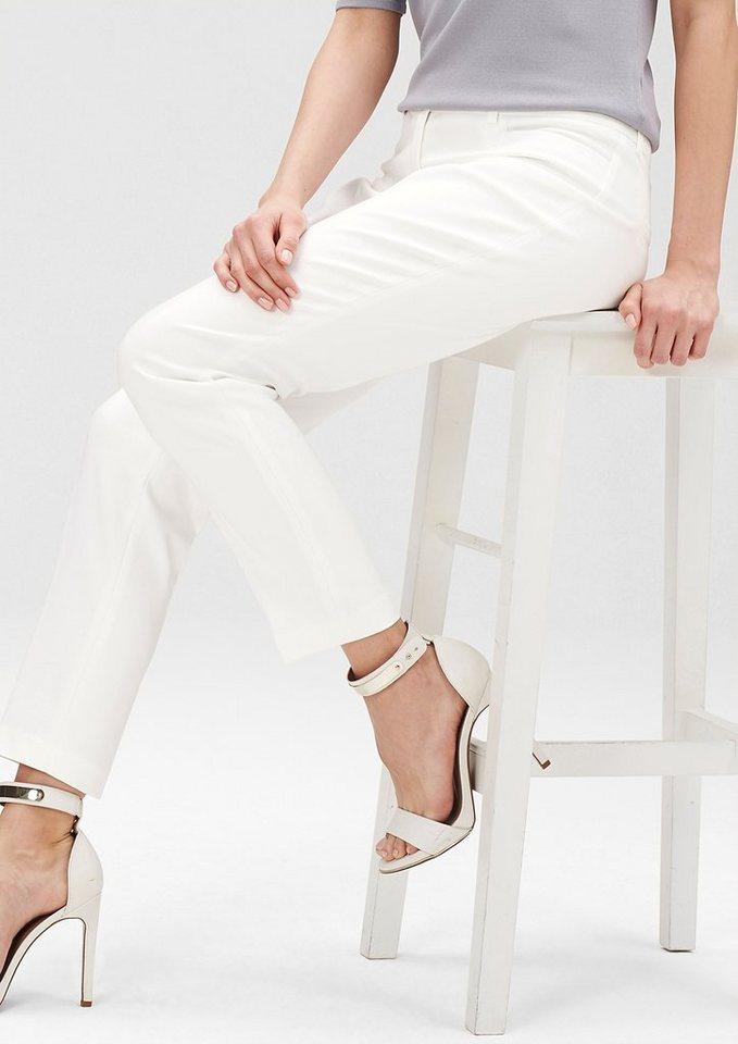 s.Oliver PREMIUM Slim: Elegante Hose in spring cream