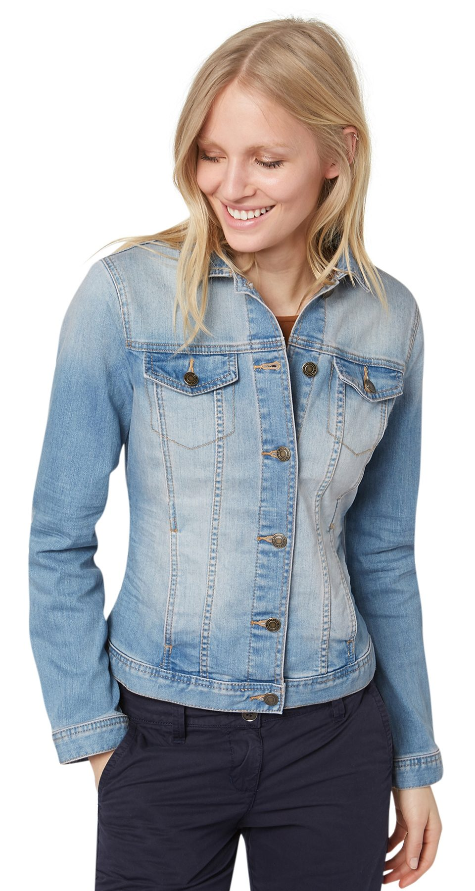 TOM TAILOR Jacke »Jeans-Jacke mit Waschung«