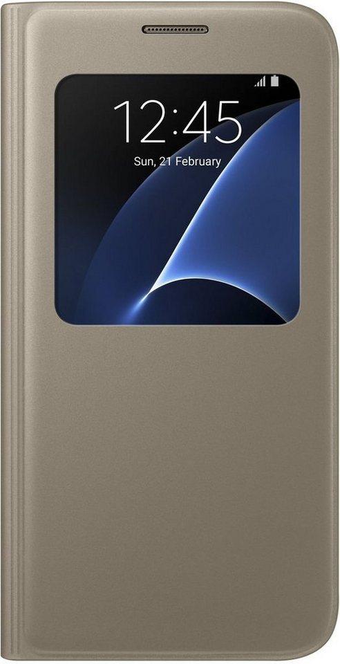 Samsung Handytasche »S-View Cover EF-CG930 für Galaxy S7« in Gold