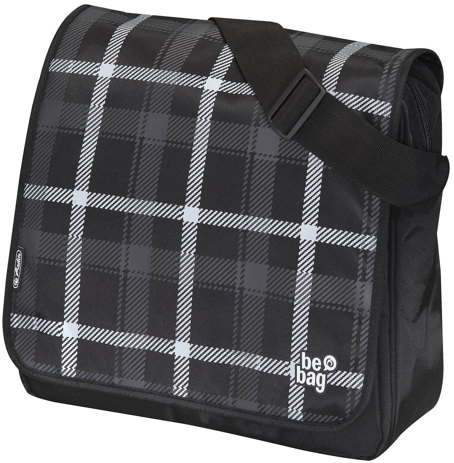 Herlitz Umhängetasche, »be.bag Messenger Bag, Karo«