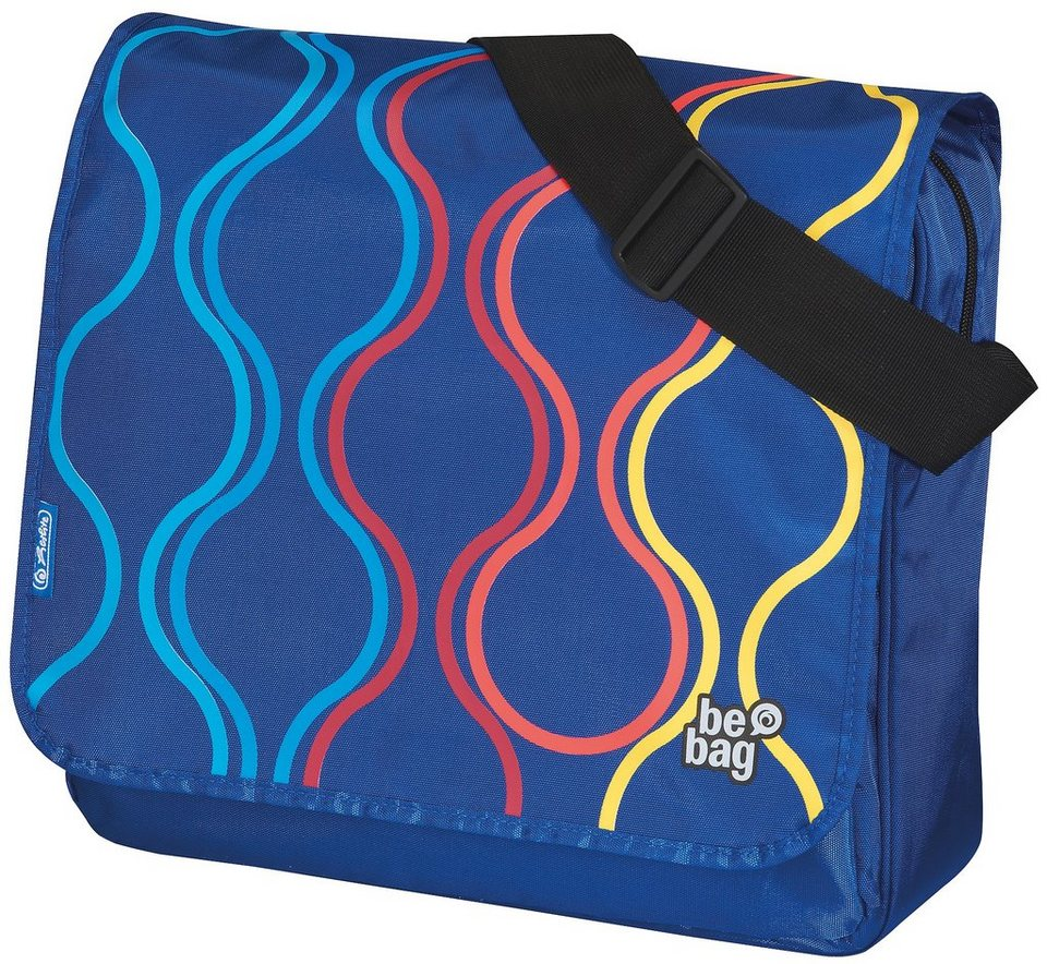Herlitz Umhängetasche, »be.bag Messenger Bag, Bubbles« in blau