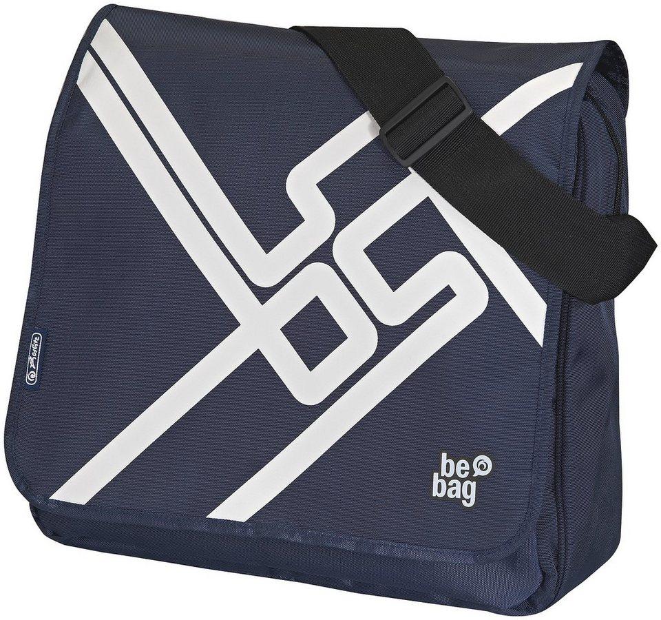 Herlitz Umhängetasche, »be.bag Messenger Bag, SOS« in blau