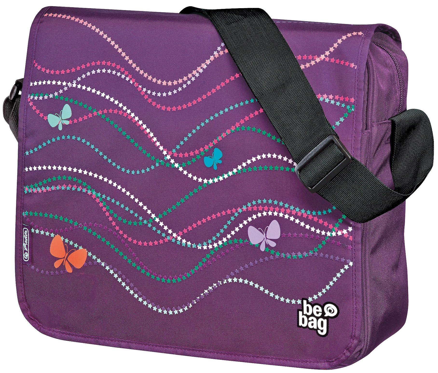Herlitz Umhängetasche, »be.bag Messenger Bag, Butterfly Power«