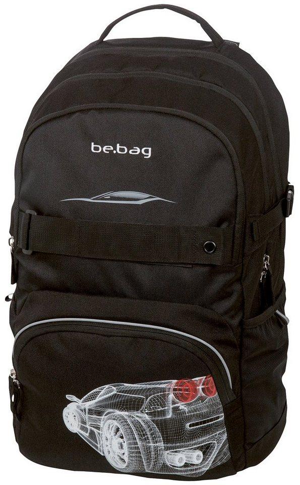 Herlitz Schulrucksack, »be.bag cube, Grid Car« in schwarz