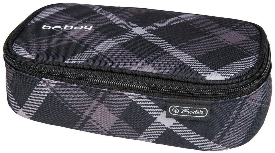 Herlitz Mäppchen, »Faulenzer be.bag beatBox, Black Checked« in schwarz