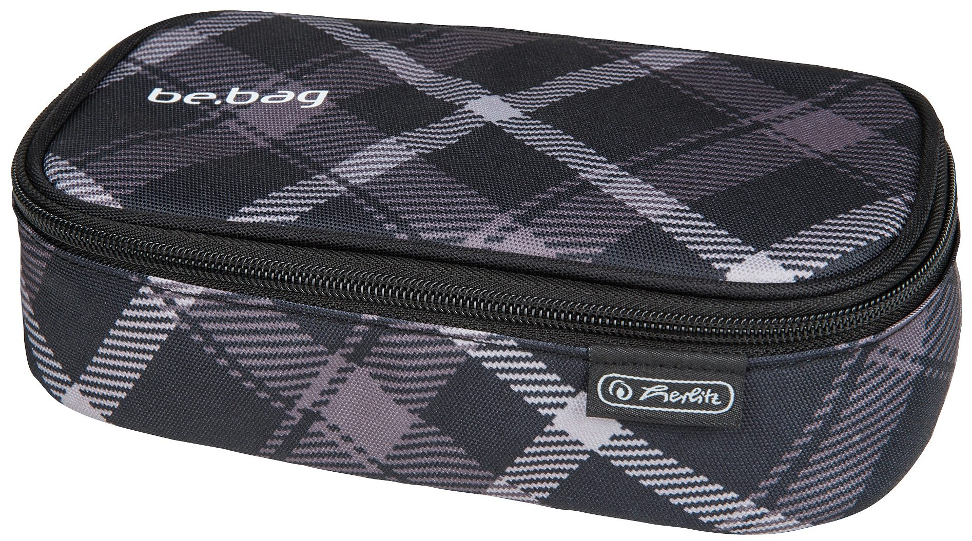 Herlitz Mäppchen, »Faulenzer be.bag beatBox, Black Checked«