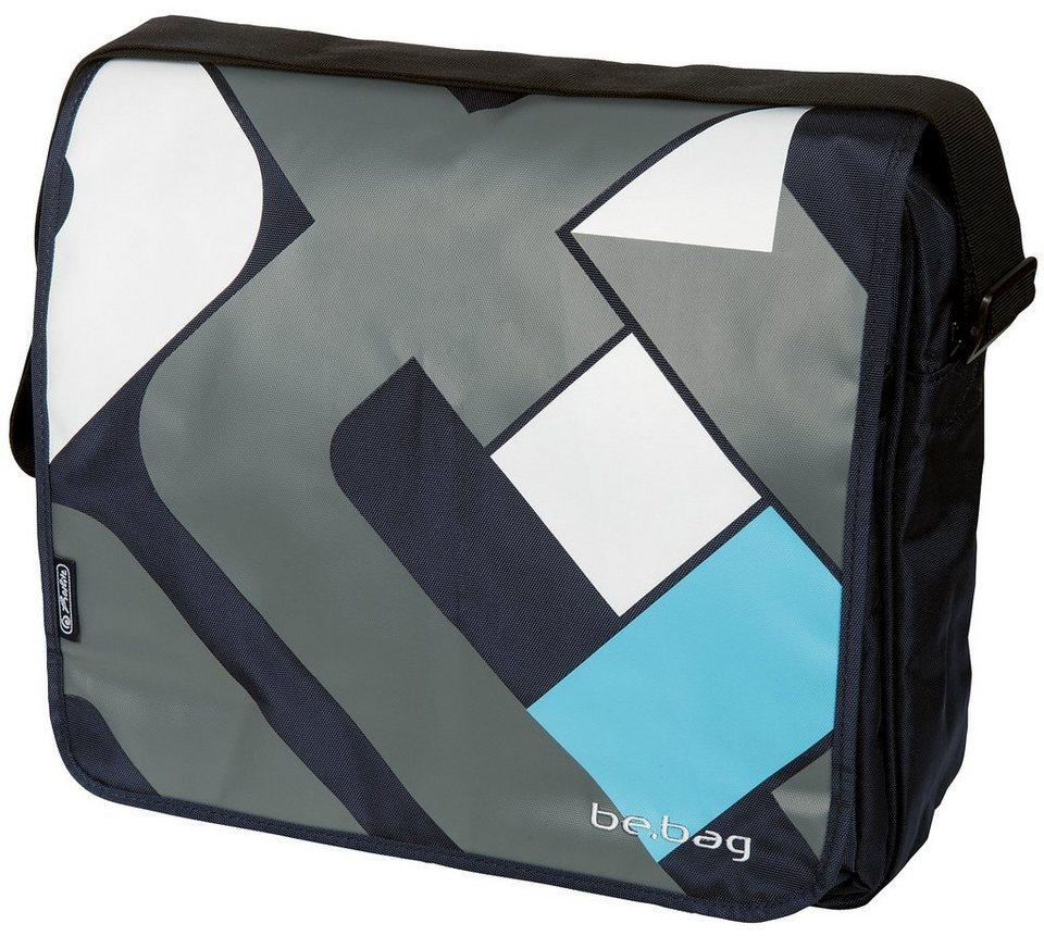 Herlitz Umhängetasche mit wechselbarer Wendeklappe, »Messenger Bag, Crossing« in schwarz