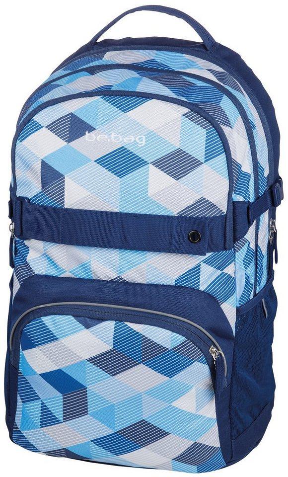 Herlitz Schulrucksack, »be.bag cube, Blue Checked« in blau