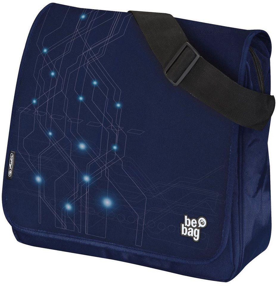 Herlitz Umhängetasche, »be.bag Messenger Bag, Electric« in blau