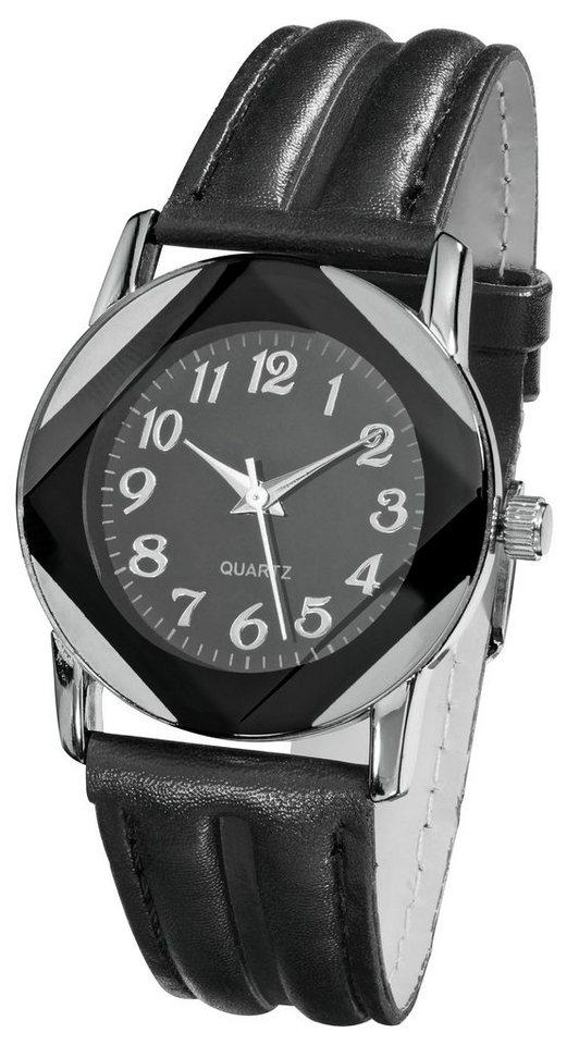 Armbanduhr in schwarz/silberfarben