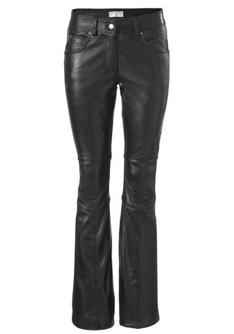 STYLE брюки кожаные ausgestellte форма...