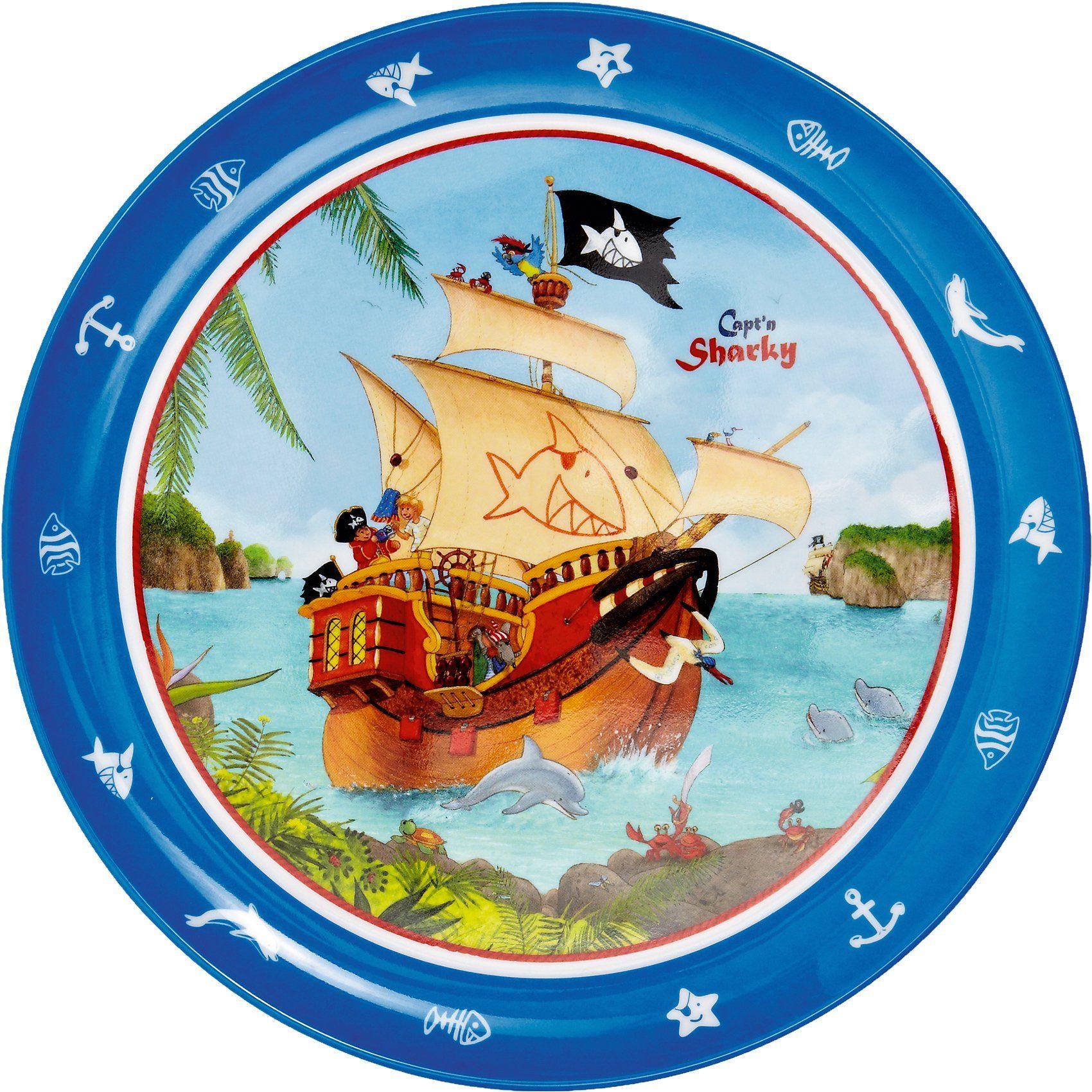 Spiegelburg Melamin-Teller Capt`n Sharky