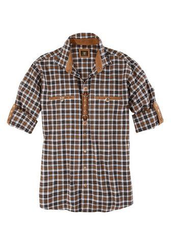 OS-TRACHTEN Tautinio stiliaus marškiniai su Lederi...