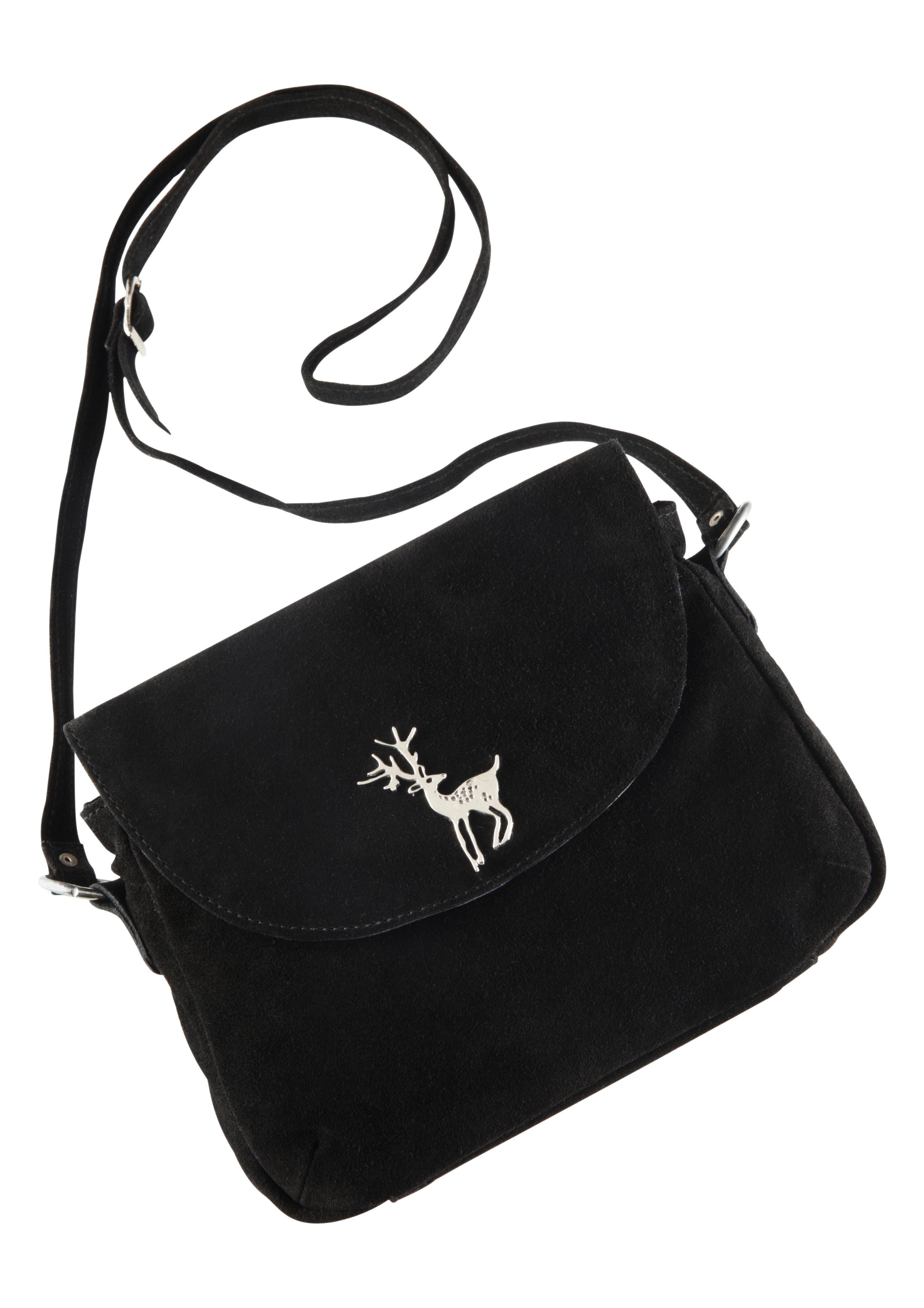 Trachtentasche mit Hirschapplikation, KABE Leder-Accessoires