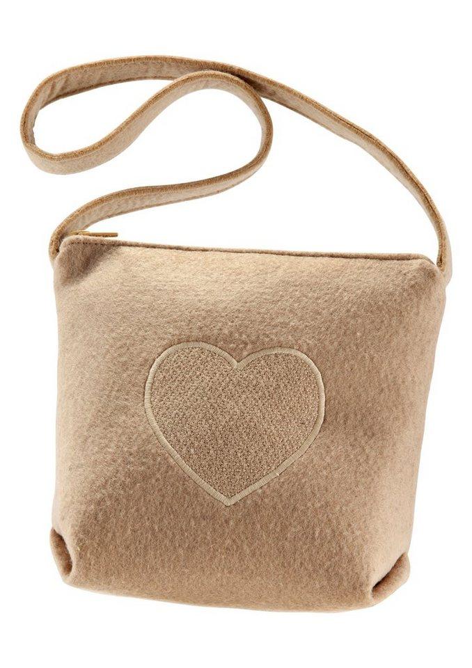 Trachtentasche in Filzoptik, K&K Kunstduo in beige
