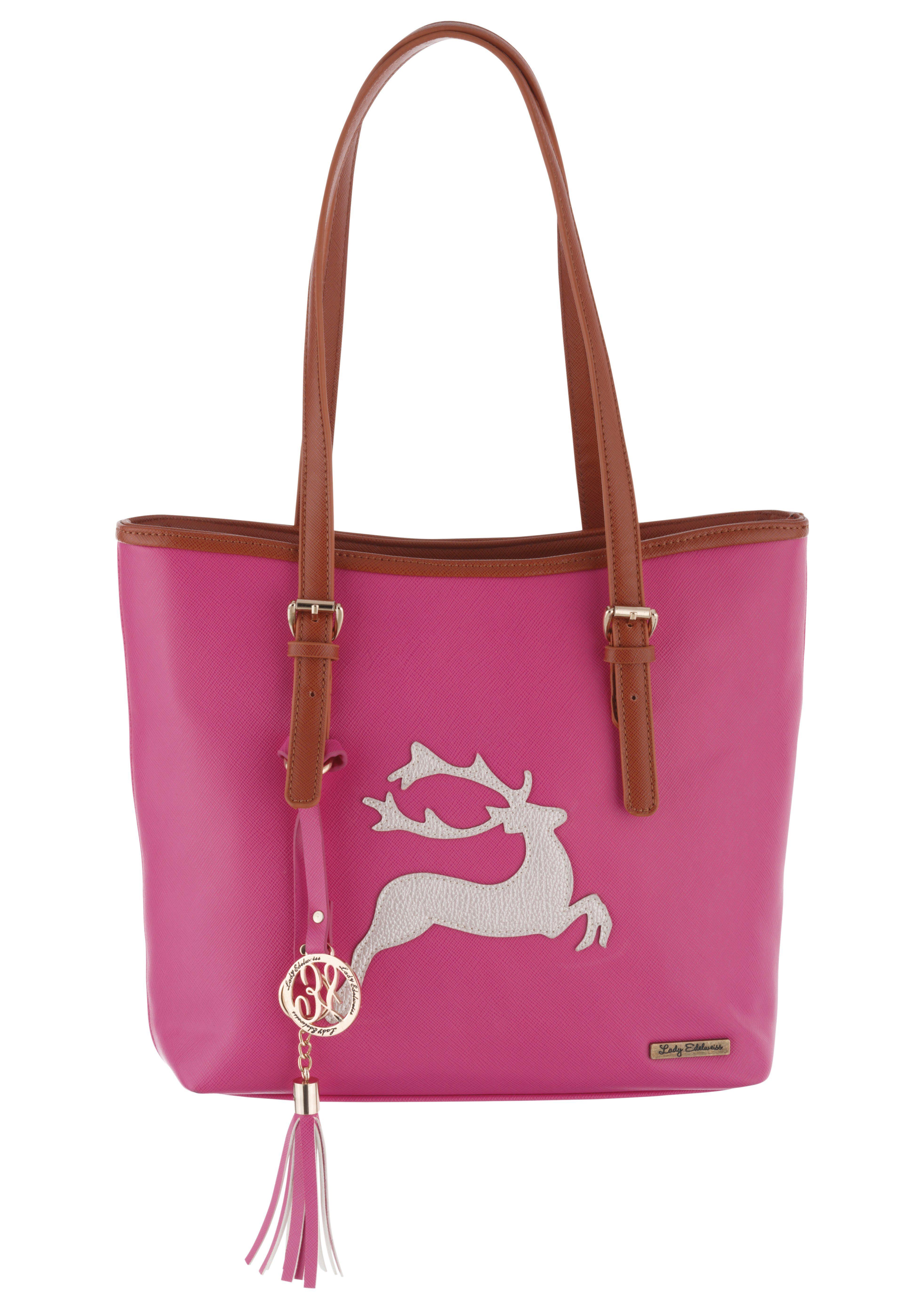 Trachtentasche mit Hirschapplikation, Lady Edelweiss