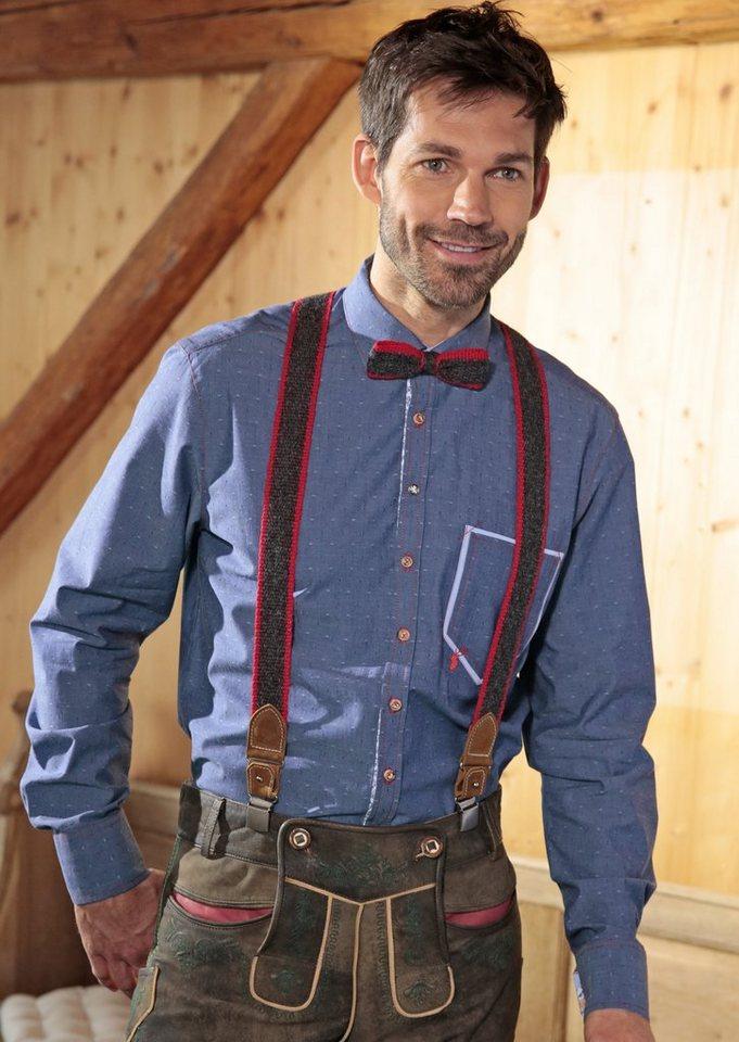 Trachtenhemd im Jeanslook, OS-Trachten in blau