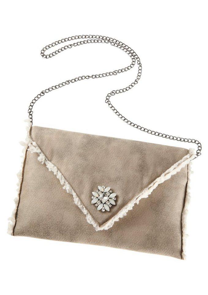 Trachtentasche mit abnehmbaren Umhängeriemen, Klimm in beige