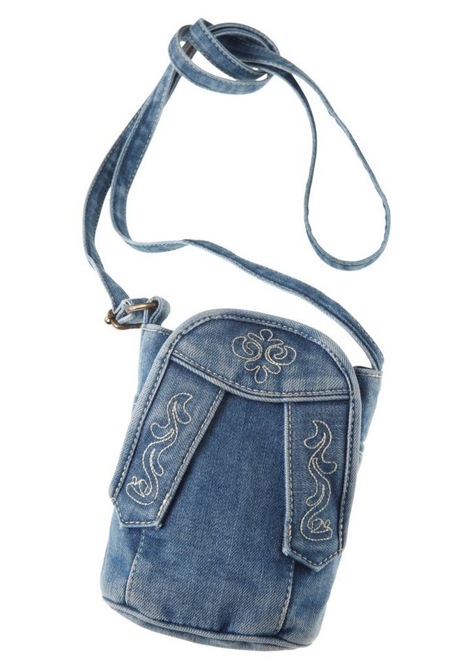 Trachtentasche in Jeansoptik, Hammerschmid in blau