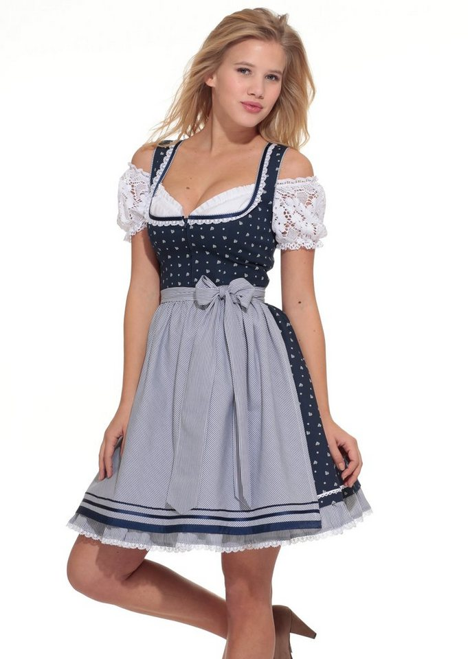 dirndl kurz mit h kelspitze hannah online kaufen otto. Black Bedroom Furniture Sets. Home Design Ideas