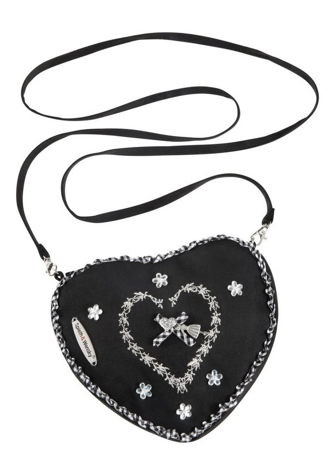 Trachtentasche in Herzform, Spieth & Wensky in schwarz