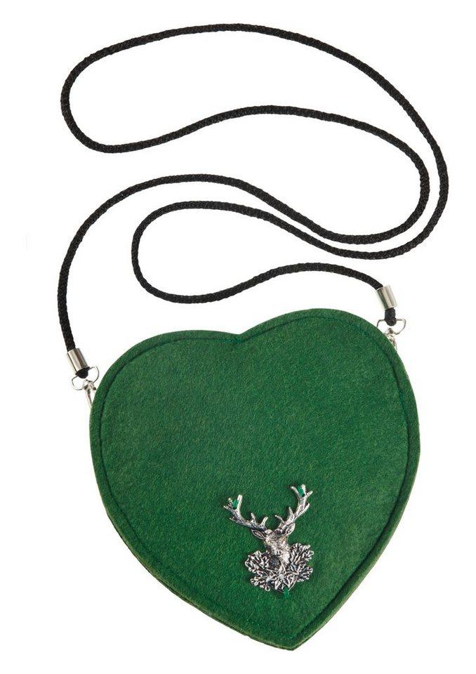 Trachtentasche mit Hirschmotiv, K&K Kunstduo in grün