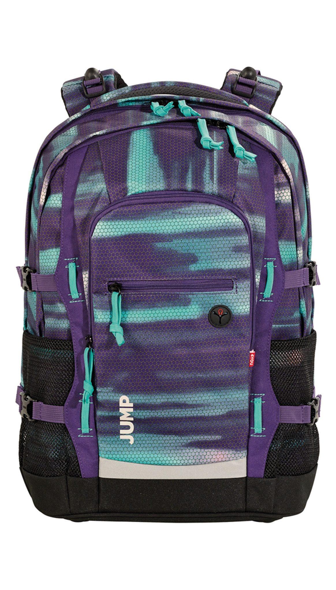 4YOU Schulrucksack mit Laptop- und Tabletfach, Shades Purple, »Jump«