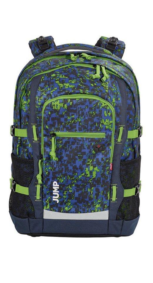 4YOU Schulrucksack mit Laptop- und Tabletfach, Nature Bits, »Jump« in nature bits