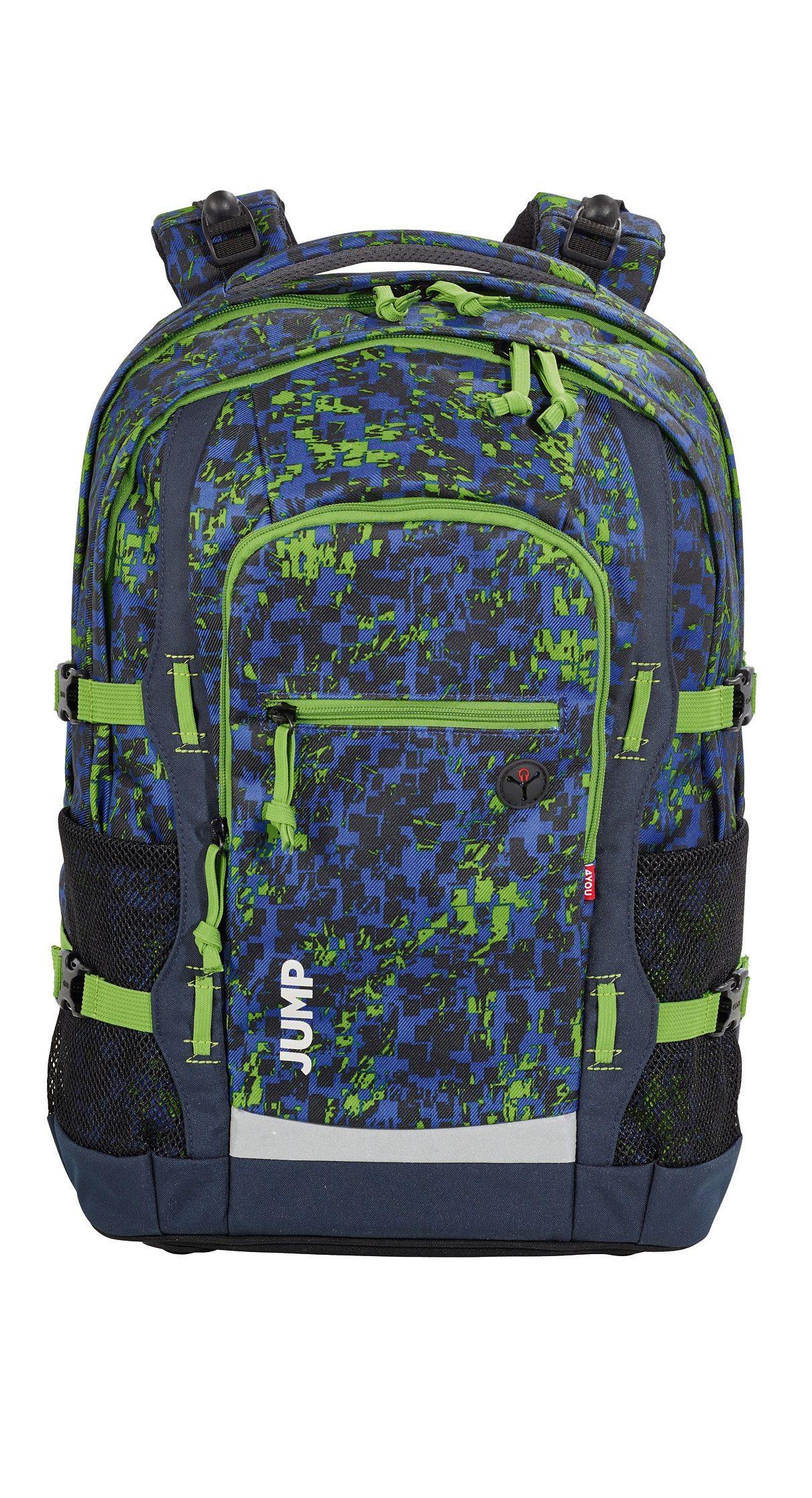 4YOU Schulrucksack mit Laptop- und Tabletfach, Nature Bits, »Jump«