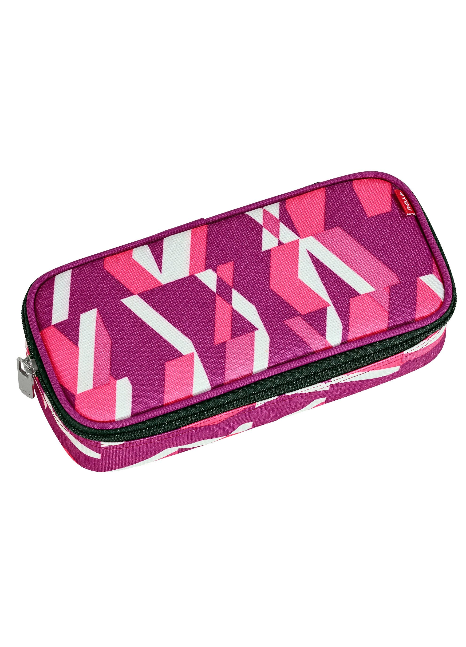 4YOU Mäppchen mit Geodreieck®, Chequer Pink, »Pencil Case«