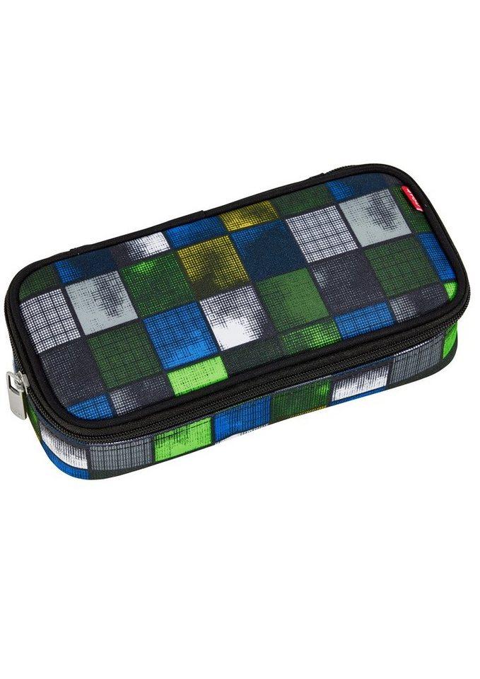 4YOU Mäppchen mit Geodreieck®, Kiwi Squares, »Pencil Case« in kiwi squares